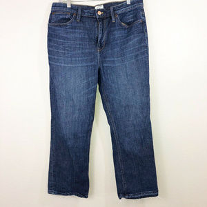 J. Crew Billie Jean Boot Crop Jeans Sz 31
